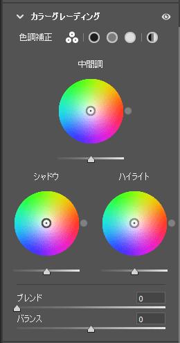 PhotoshopのCameraRawカラーグレーディング