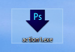 Photoshopのドロップレットアイコン