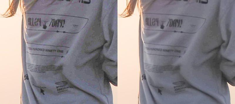 PhotoshopのCamera Rawフィルターで暗部ノイズを軽減した例