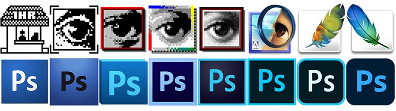 Photoshopの歴代アイコン